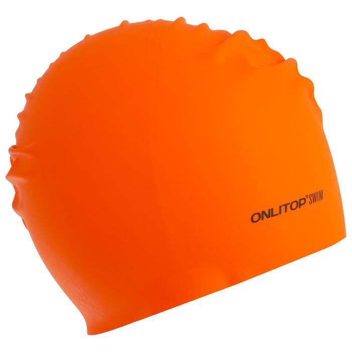 Шапочка для плавания, взрослая, резиновая, цвета МИКС