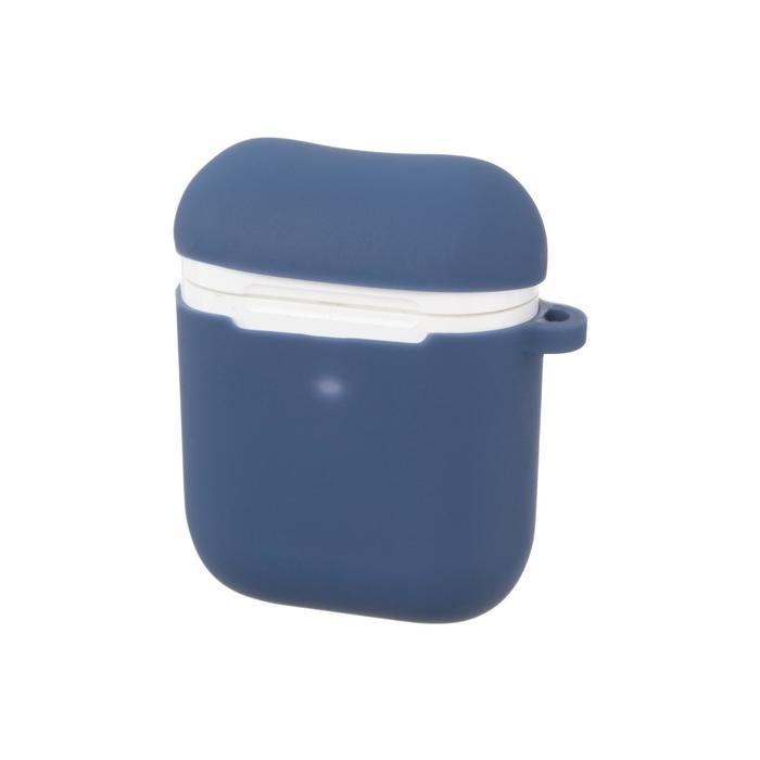 Чехол Prime Line, для AirPods 1/2, силиконовый, синий