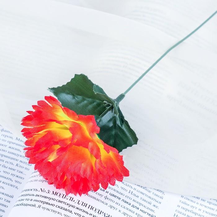 """Цветы искусственные """"Гвоздика 25 см, оранжевая"""