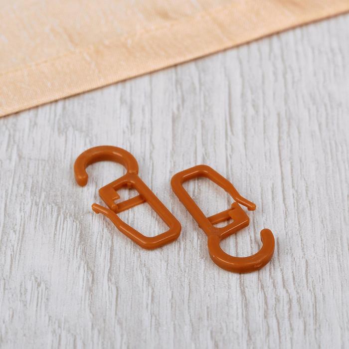Крючок для штор на кольцо, 30 ? 13 мм, цвет черешня