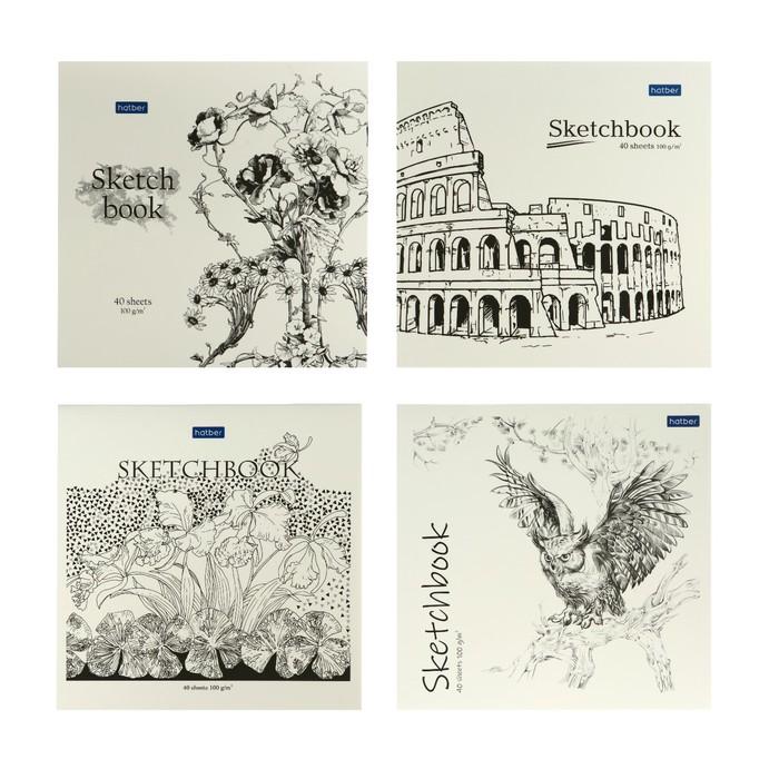 Блокнот-скетчбук 165 х 165 мм, 40 листов «Графические рисунки», обложка мелованный картон, матовая ламинация, блок 100 г/м?