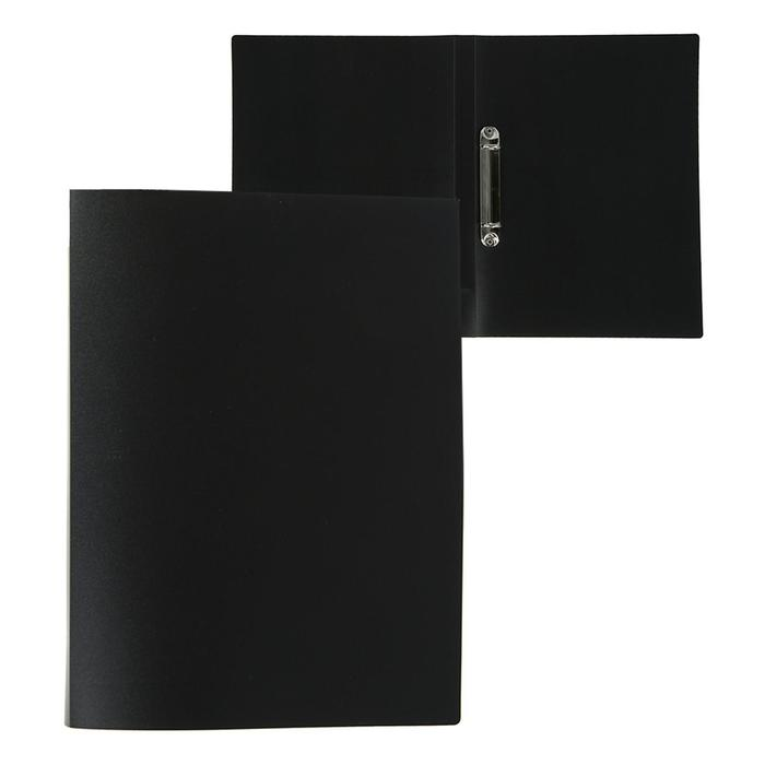 Папка на 2 кольцах А4, Calligrata, 18 мм, 500 мкм, черная