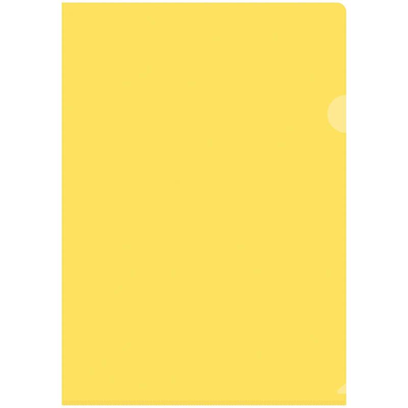 Папка-уголок OfficeSpace, А4, 150мкм, прозрачная желтая