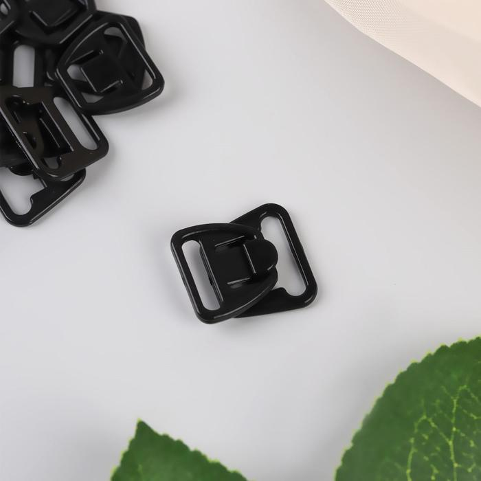 Застёжка для бюстгальтера для кормящих мам, пластиковая, 12/14 мм, 10 шт, цвет чёрный