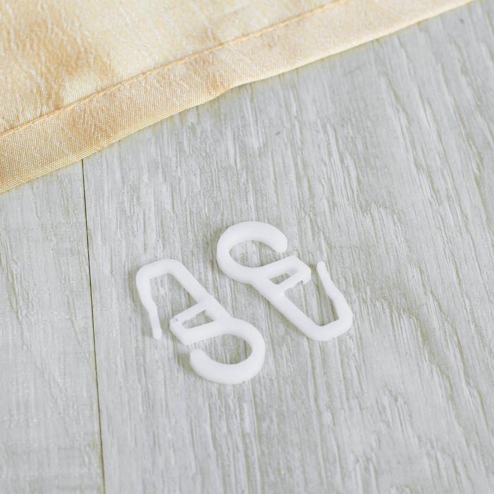 Крючок для штор на кольцо, 35 ? 15 мм, цвет белый