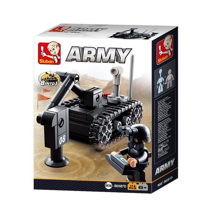 Конструктор Армия «Саперный танк», 174 детали