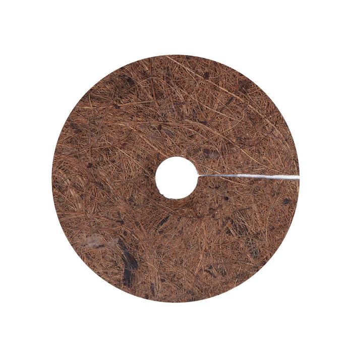 Круг приствольный, d = 11 см, из кокосового полотна с натуральным латексным клеем