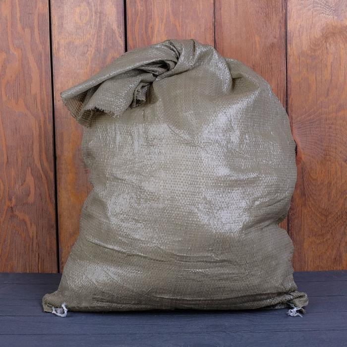 Мешок ПП, 55 ? 95 см, на 50 кг, зелёный