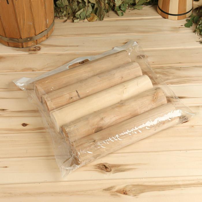 Дрова берёзовые цилиндрованные в связке (упаковка, 5 шт)