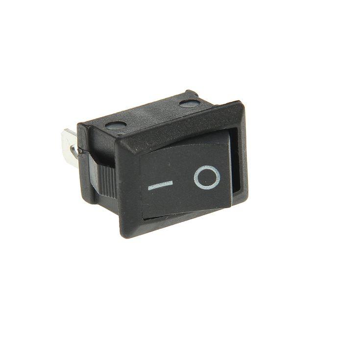 Выключатель клавишный REXANT RWB-202, 250 В, 6А (3с), ON-ON, Mini, черный