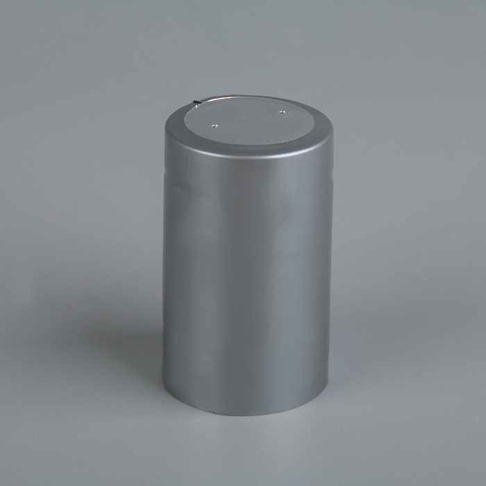 Термоусадочный колпачок 30?50, серебро с топ диском