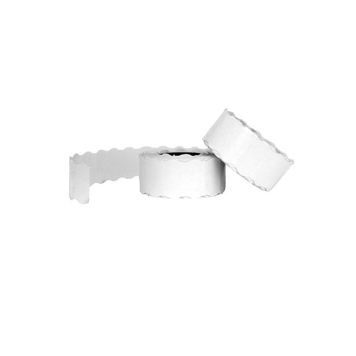 Этикет-лента волна 22 х 12 мм, белая, 700 этикеток