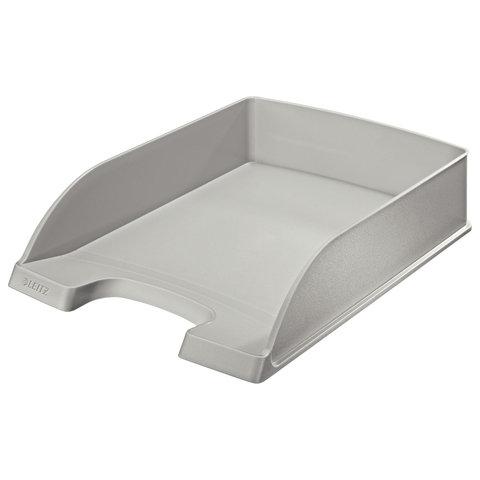 """Лоток горизонтальный для бумаг LEITZ """"Plus"""", серый, 52270085"""