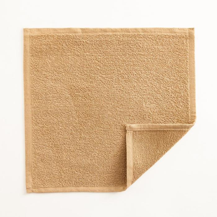 Полотенце махровое Экономь и Я 30х30 см, цв. карамельный, 100% хл, 260 гр/м2