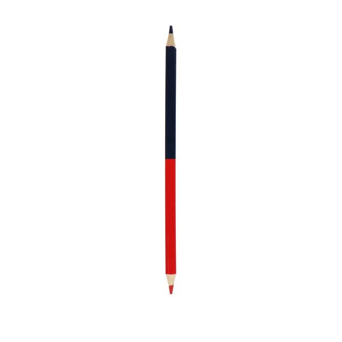 Карандаш цветной, двусторонний, красный/синий