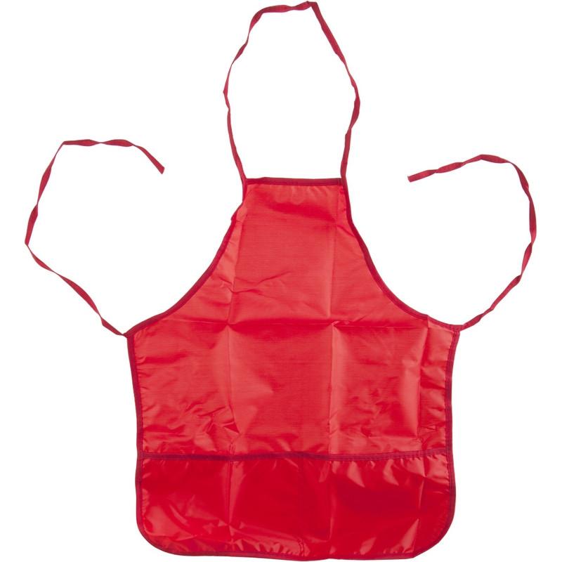 Фартук для труда 1 School красный 44x54 см, 2 кармана