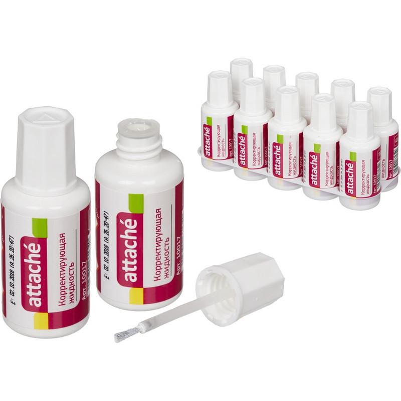 Корректирующая жидкость Attache 20мл на быстросохнущей осн, кисточка 66134