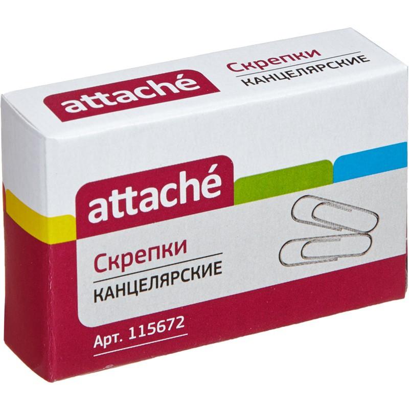 Скрепки Attache, 28 мм, оцинкованные, 100 шт.в карт.уп