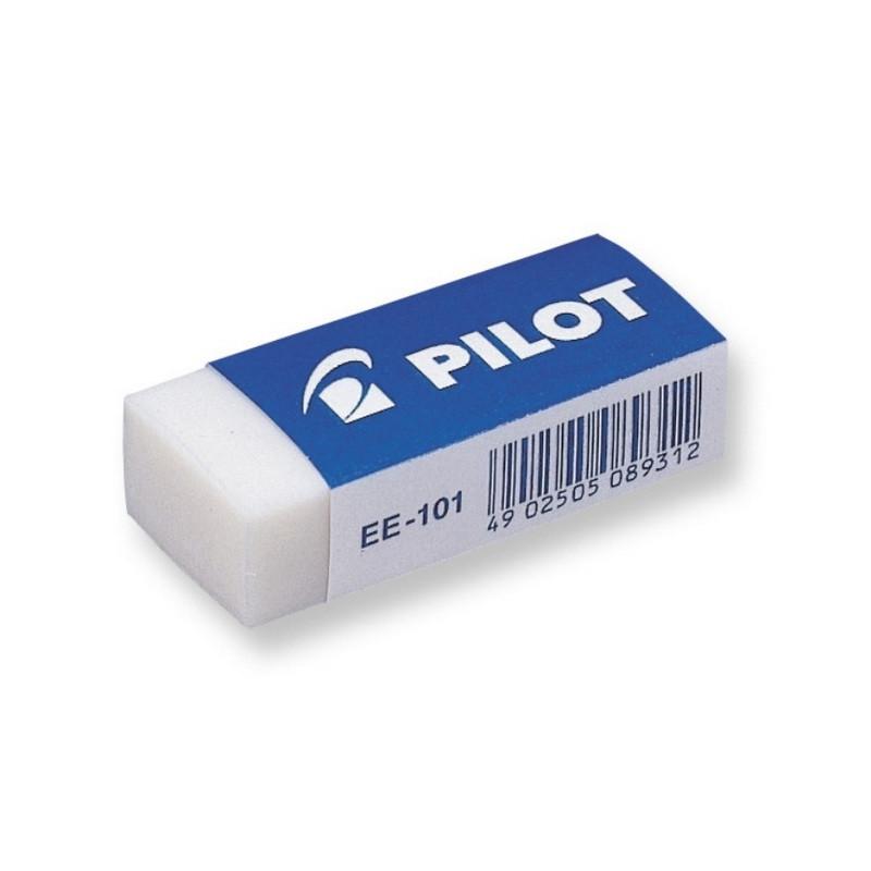 Ластик PILOT EE101 винил, карт.держатель, цв.белый, Япония, 421912 мм.