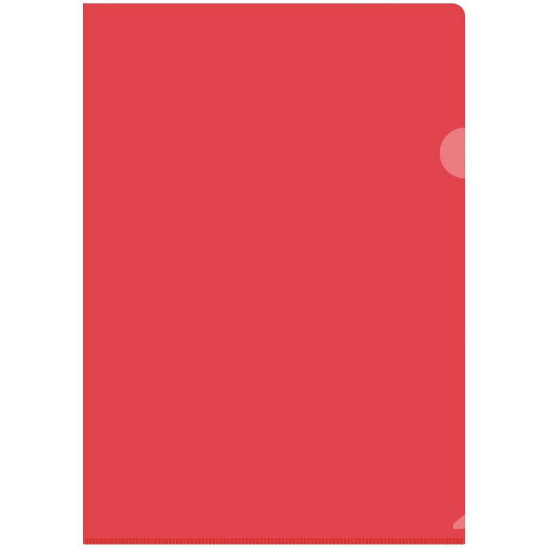 Папка-уголок OfficeSpace, А4, 150мкм, прозрачная красная