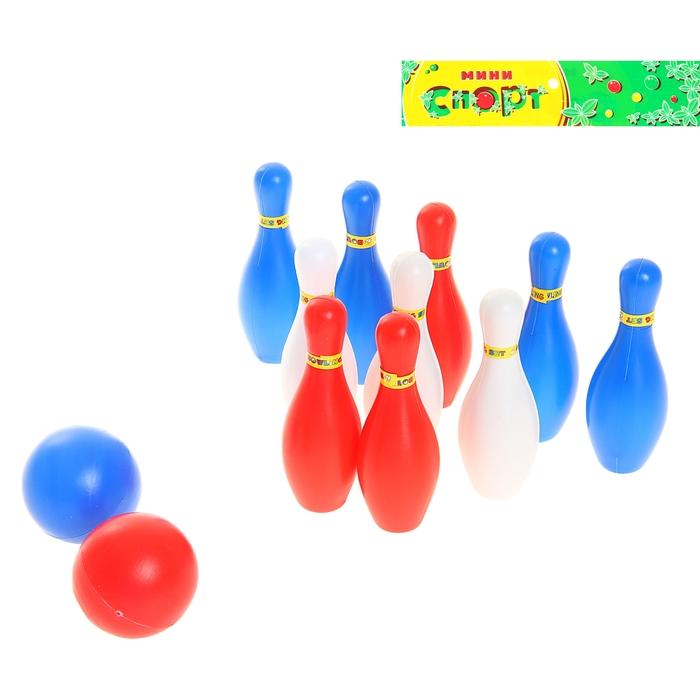 Набор игровой «Боулинг», в наборе: 10 кеглей (высота 10,5 см), 2 мяча