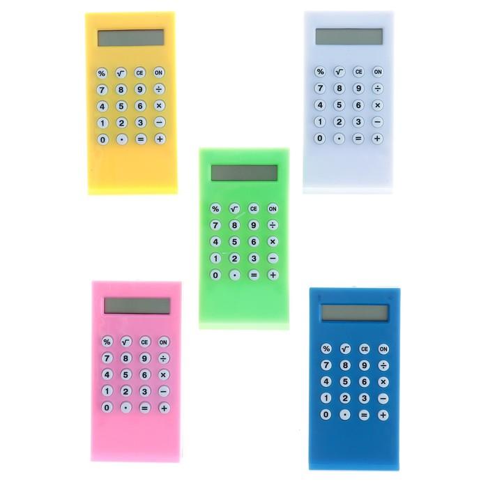 Калькулятор-зажим, 8-разрядный, МИКС