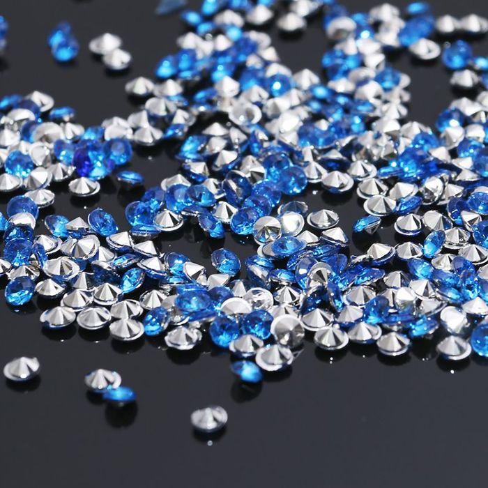 Стразы (набор 10грамм), 3мм, цвет светло-синий №33