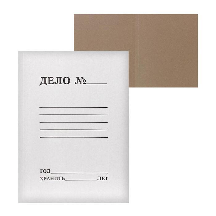 """Папка-обложка Calligrata """"Дело"""", 250г/м2, на 200л, белая, немелованная"""