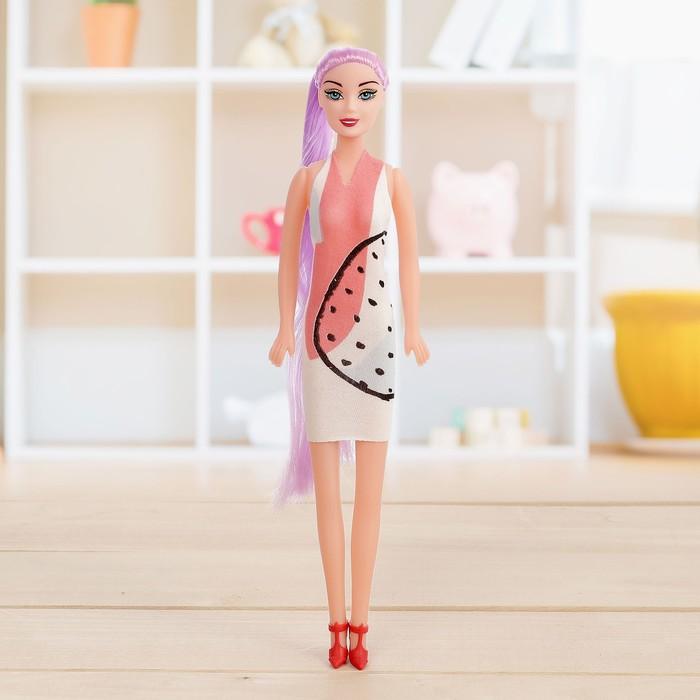 Кукла-модель «Ира» в платье, МИКС