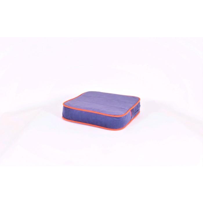 Подушка-пуф передвижной «Моби», размер 40 ? 40 см, черничный/оранжевый, велюр