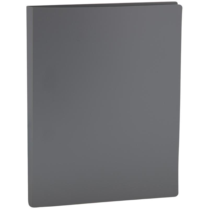 Папка с зажимом OfficeSpace, 14мм, 450мкм, серая