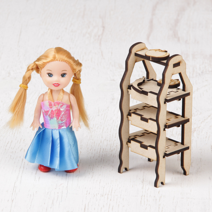 """Кукольная мебель """"Овощной магазин"""""""