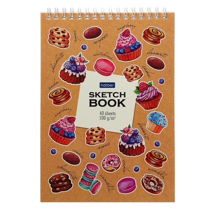 Блокнот-скетчбук А5, 40 листов на гребне «Маленькие радости», обложка мелованный картон, блок 100 г/м?, с пошаговыми эскизами, жёсткая подложка