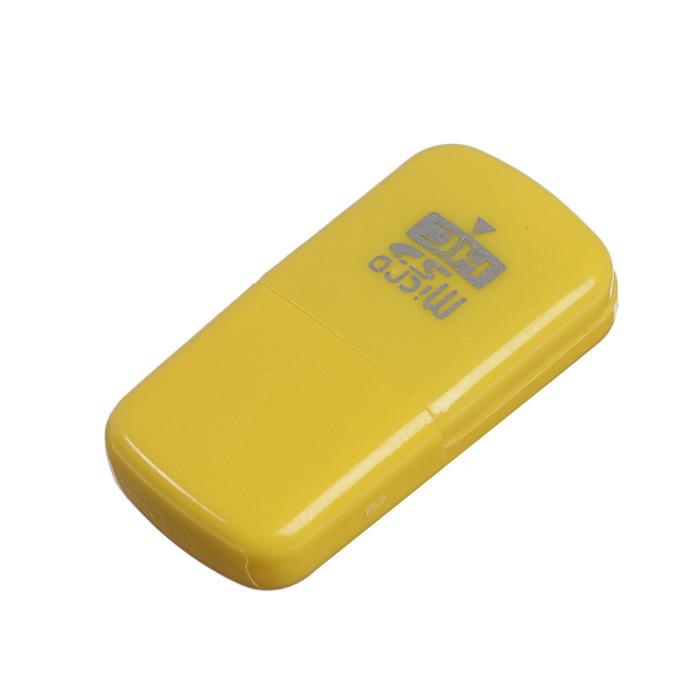 """Картридер мини LuazON, для microSD, маленький, """"Флеш"""", МИКС"""