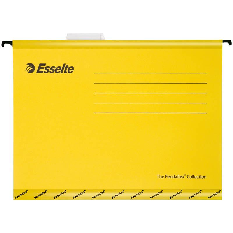 """Подвесная папка Esselte """"Pendaflex Plus Foolscap"""", 240*412мм, картон, 210г/м2, желтая"""