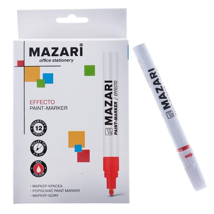 Маркер-краска (лаковый) Mazari Effecto, 2.0, красный
