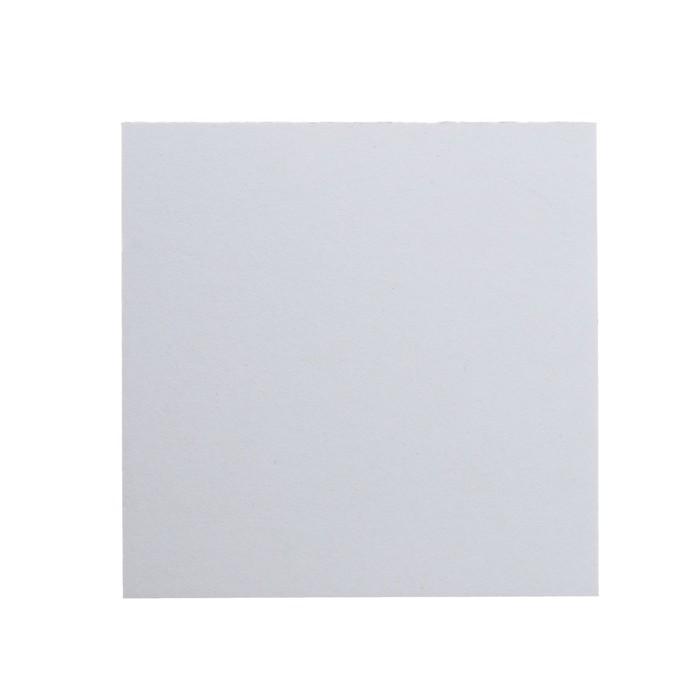 Пивной картон, 15 х 15 см, толщина 1.2 мм, 500 г/м2, белый