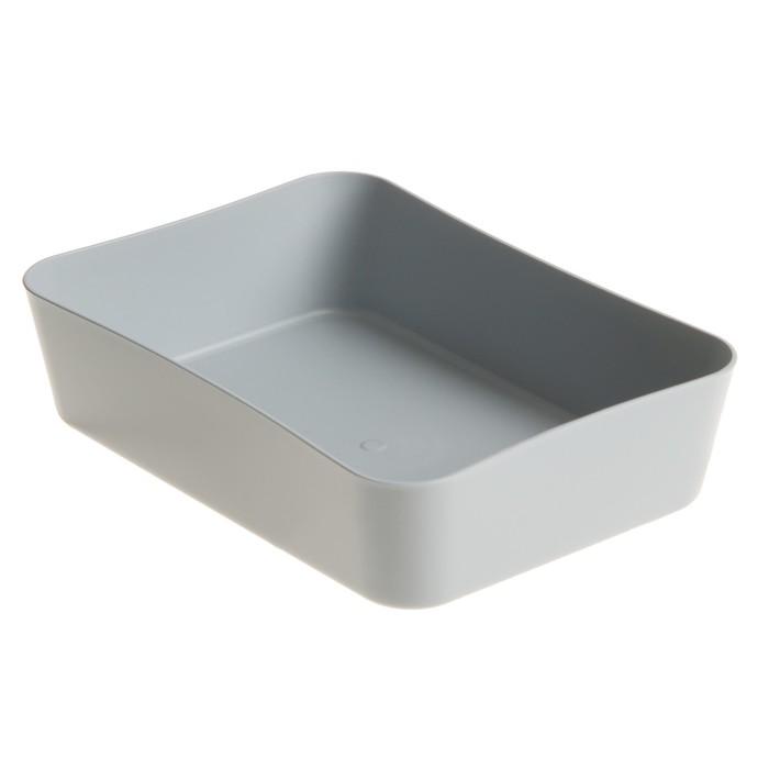 Лоток для канцелярских принадлежностей, малый «СТАММ», серый