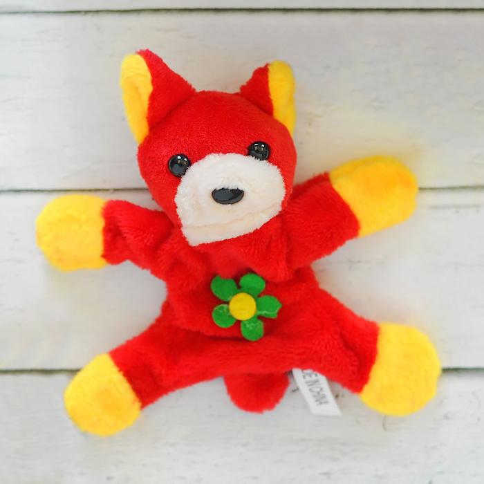 Мягкая игрушка-магнит «Собачка», длинные ушки, цветок, цвета МИКС