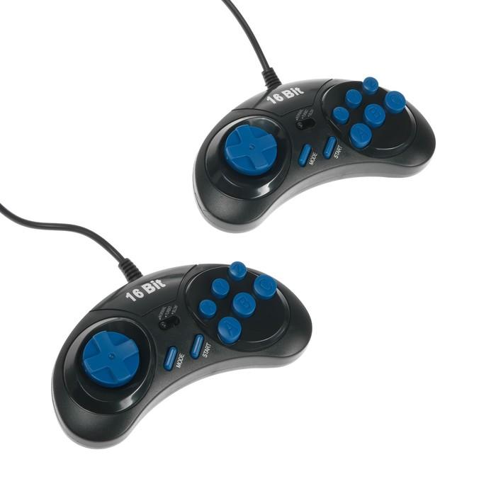 Геймпад Sega 16-bit, 6 кнопок, 2 шт в комплекте, черный