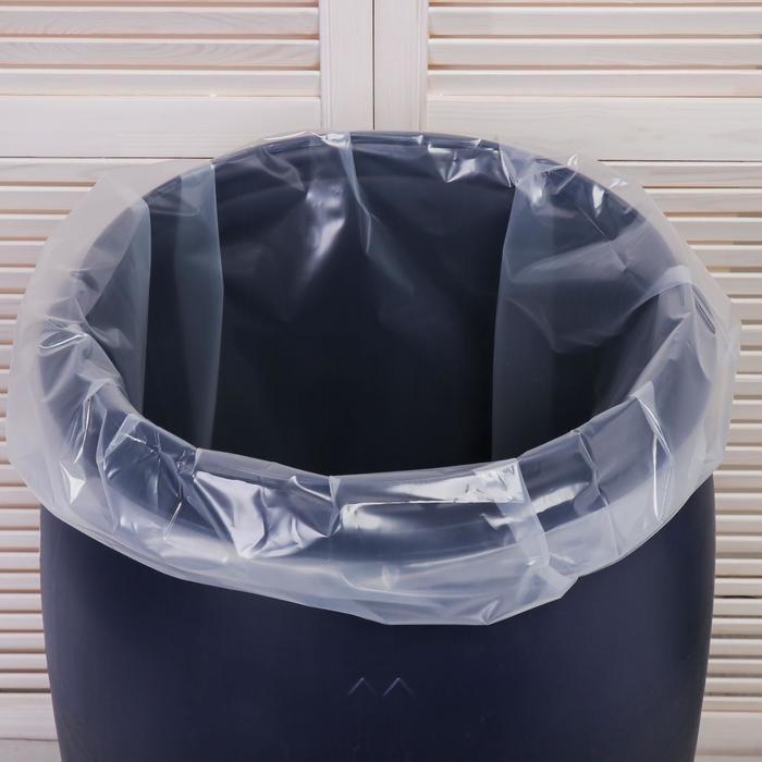 Мешок, вкладыш в бочку, 35 литров, 50 ? 70 см, 80 мкм
