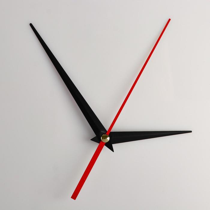 Комплект из 3-х стрелок для часов черные 73/110 (1039) (фасовка 100 наборов)