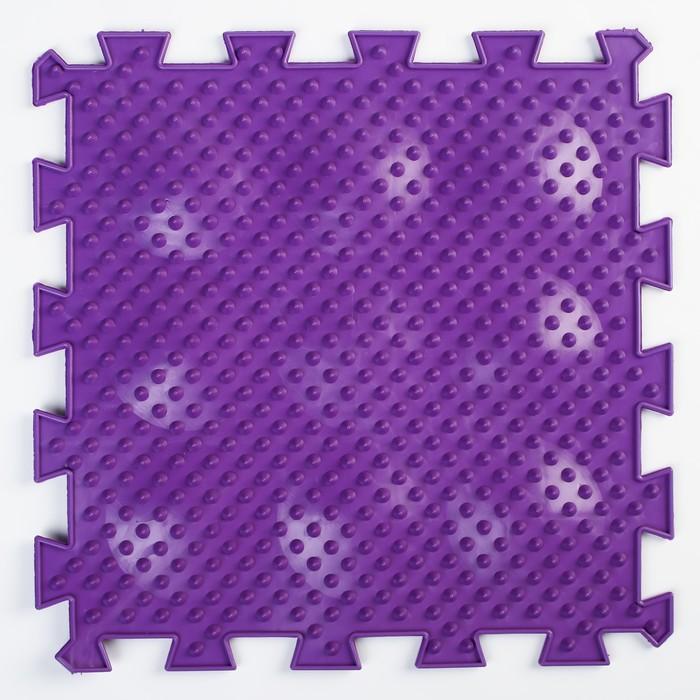 Детский массажный коврик 1 модуль «Жёсткие Ёжики», цвет МИКС