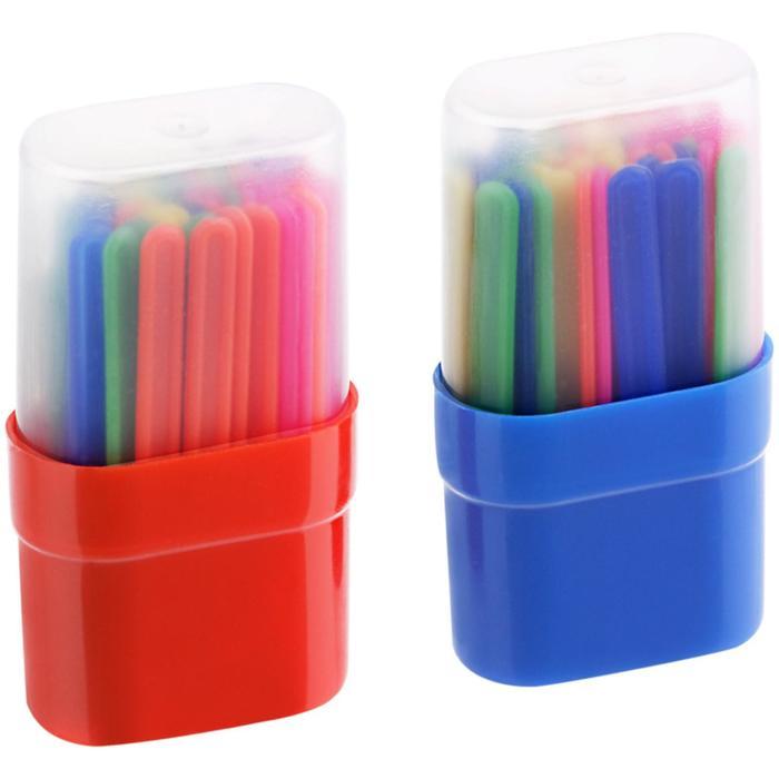 Счетные палочки 50 штук, микс, в пластиковом пенале