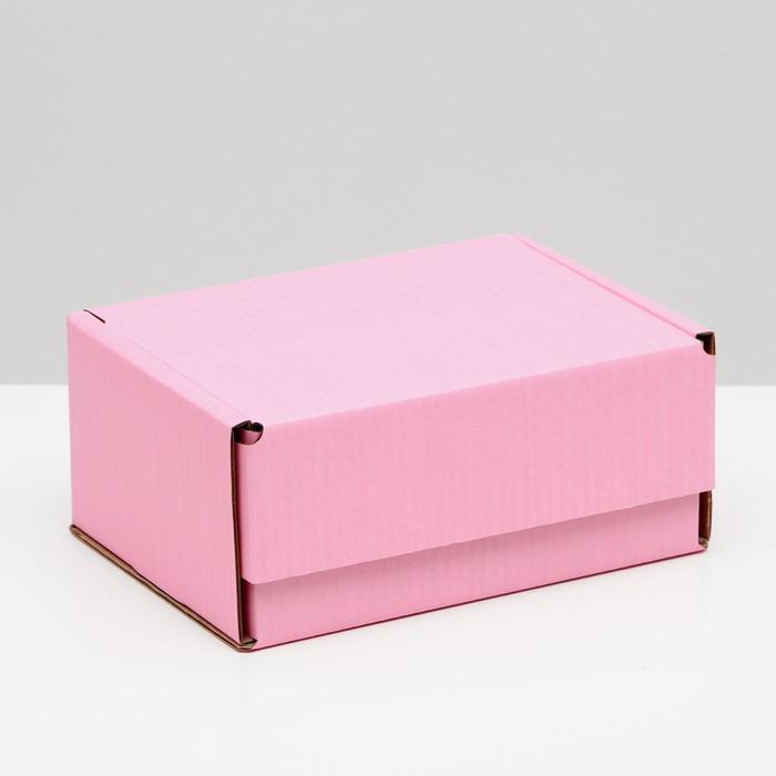 Коробка самосборная, розовая, 22 х 16,5 х 10 см,
