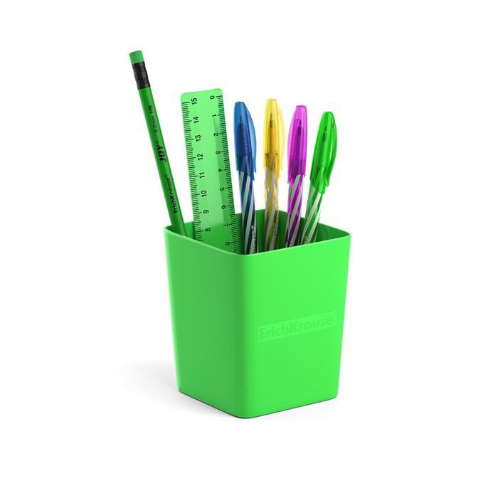 Набор настольный канцелярский 6 предметов ErichKrause Base, Neon Solid, зеленый