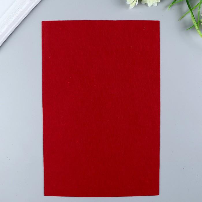 Фетр  полужесткий  1 мм 20х30 см   т.красный