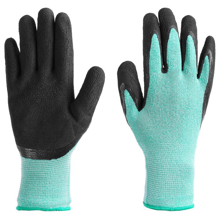 Перчатки рыболовные, резиновые, цвет бирюзовый