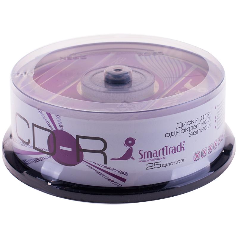 Диск CD-R 700Mb Smart Track 52x Cake Box (25шт)