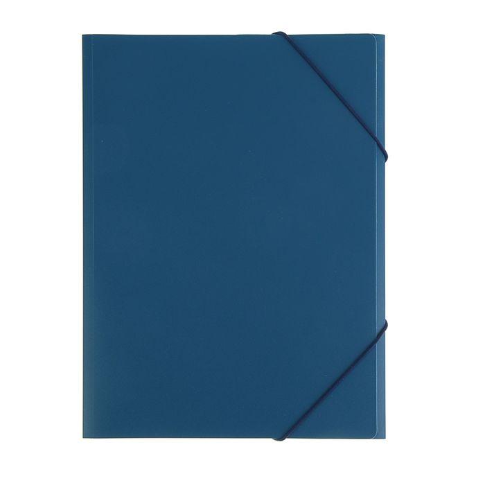Папка на резинке А4, корешок 33мм, синяя